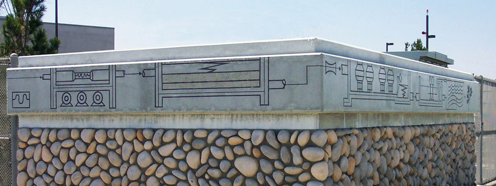 Pictograph Frieze - South Bay Water Reclamation Plant