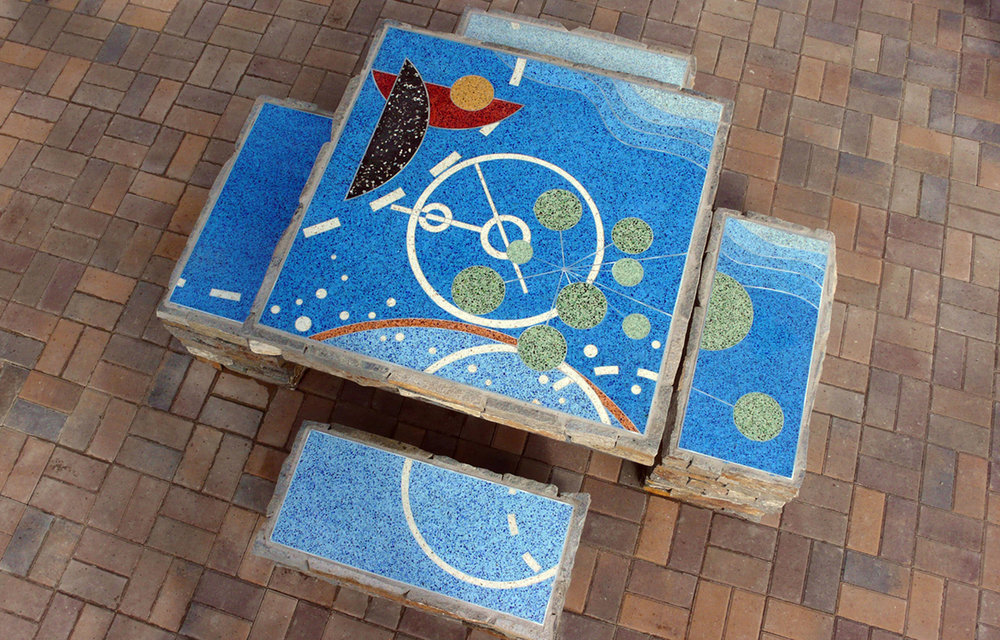 Terrazzo Picnic Tables - Maple Street Pedestrian Plaza