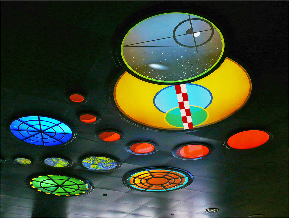 Ceiling Node Light Sculpture - San Diego International Airport