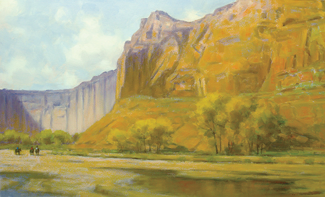 "Canyon Riders | 28""x40"" 