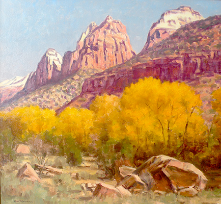 "Fall in Zions | 36""x36"" 