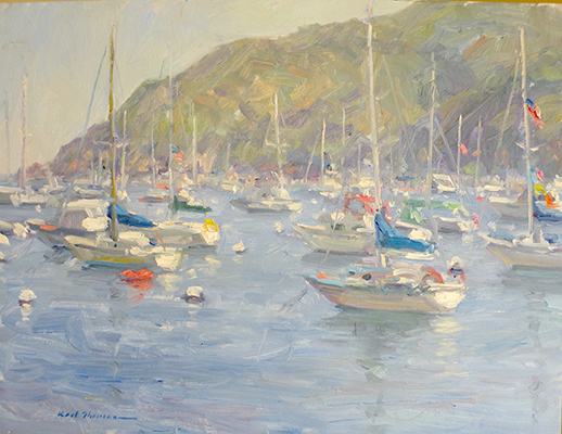"Catalina Boats | 9""x12"" 