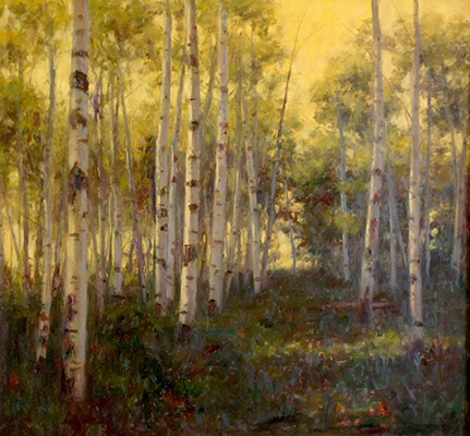 "Aspen Twilight | 30""x32"" 