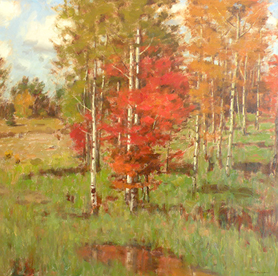 "A Touch of Autumn | 30""x30"" 