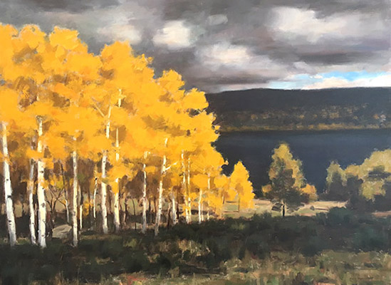 """Fish Lake Fall   20""""x30""""   private collection"""