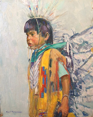 "Indian Boy | 10""x8"" 