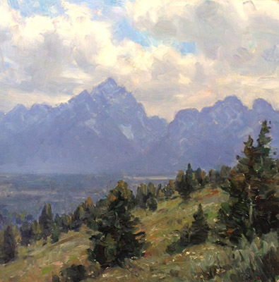 "Teton Study | 12""x12"" 