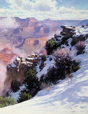 "Grand Canyon Winter | 60""x50"" 