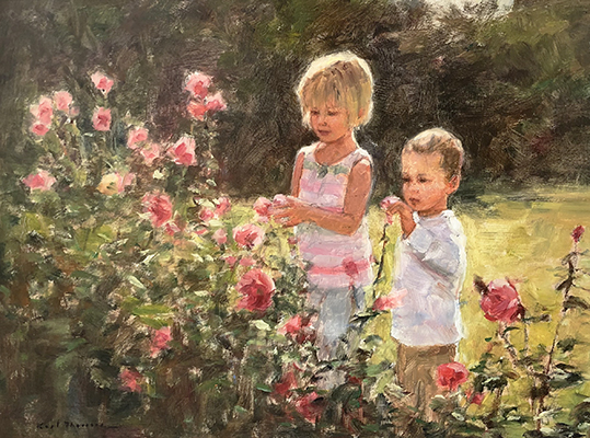 "Brother and Sister | 16"" x 18"" 
