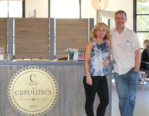 Caroline and Michael - Owners of Caroline's Blowdrys & Base Color
