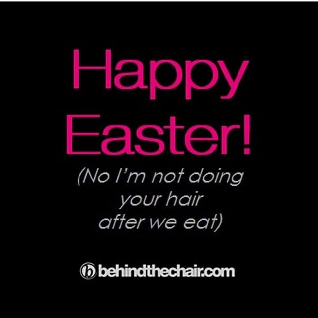 Haha! It's all love ladies! We will be back open, bright and early at 8 tomorrow morning! #happyeaster