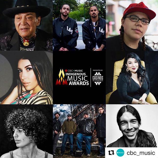 #Repost @cbc_music with @get_repost ・・・ This week #CBCReclaimed with host @culturite brings you songs from nominees for this year's @indigenousmusicawards, featuring @snottynoserezkids, @iamcarsengray, @thetradeoffs and MANY MORE! 🎶 Tune in Wednesday at 7 p.m. on CBC Music. #IMAwards