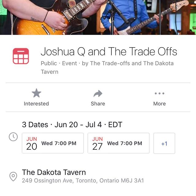 June 20,27 and July 4 @thedakotatavern