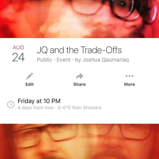 This Friday at the Legion Quiet lounge #TheTradeOffs