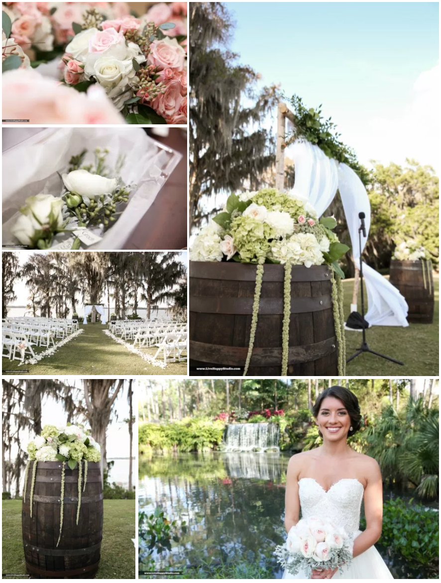 Bluegrass Chic - ceremony arch Mission Inn Marina