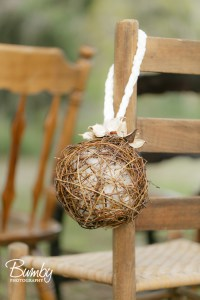 Bluegrass Chic - Willow and Cotton Aisle Markers with velvet braid
