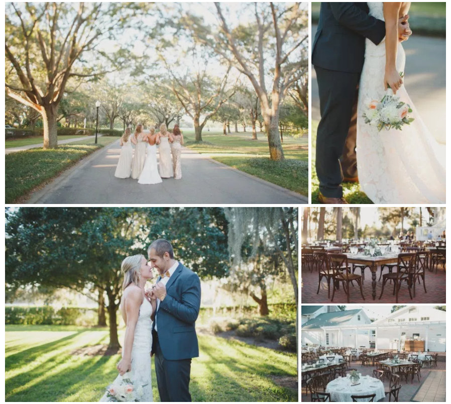 Bluegrass Chic - Cypress Grove Wedding in Peach