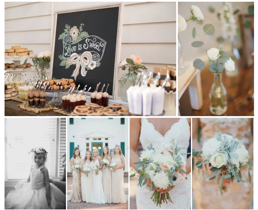 Bluegrass Chic - Perfectly Peach Reception at Cypress Grove