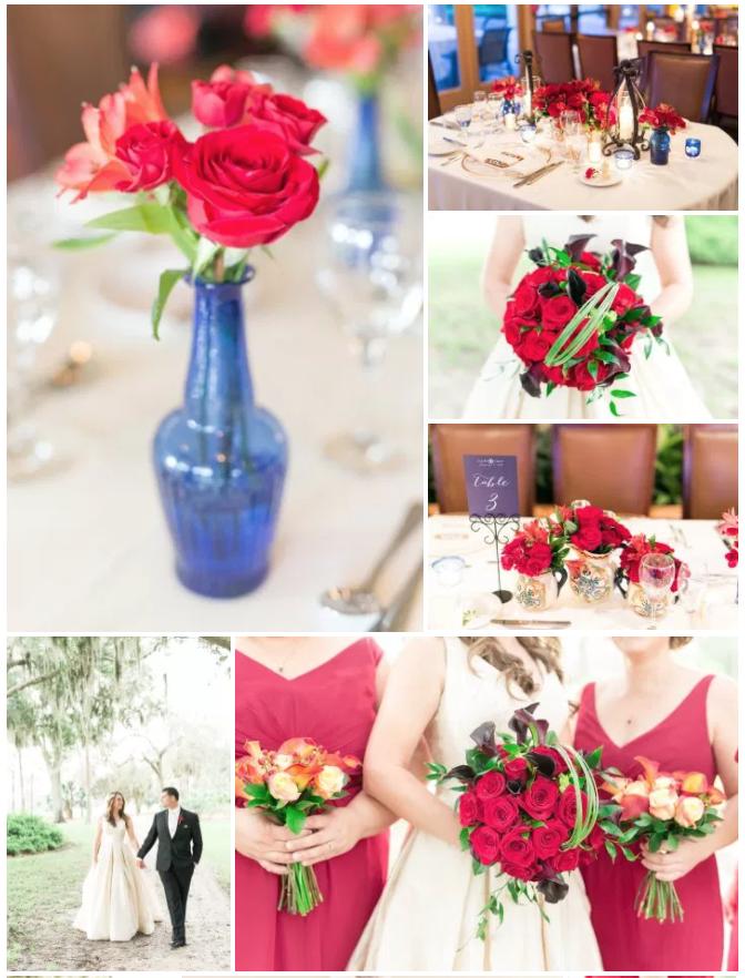 Bluegrass Chic - Spanish Wedding Reception Tables