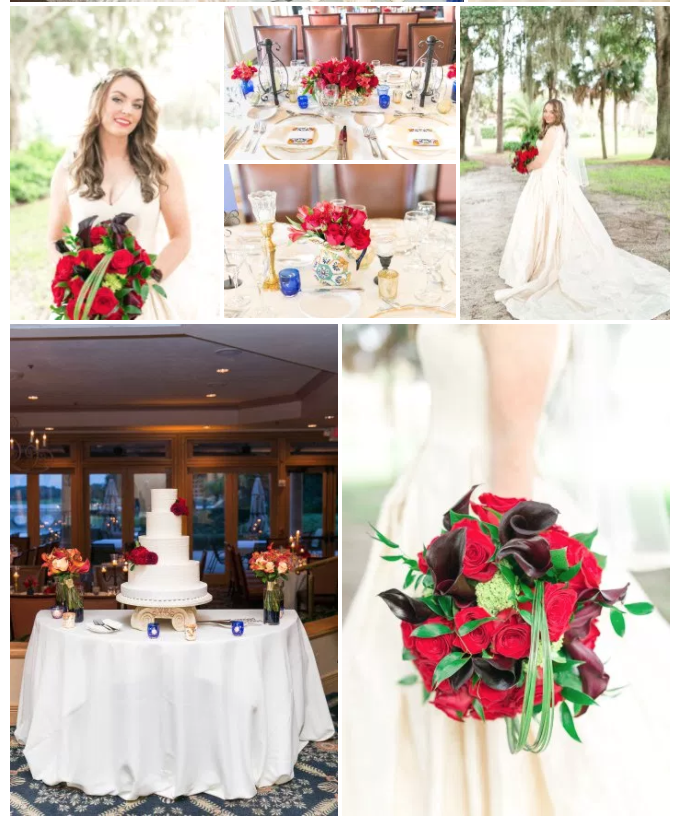 Bluegrass Chic - Red Rose Spanish Wedding
