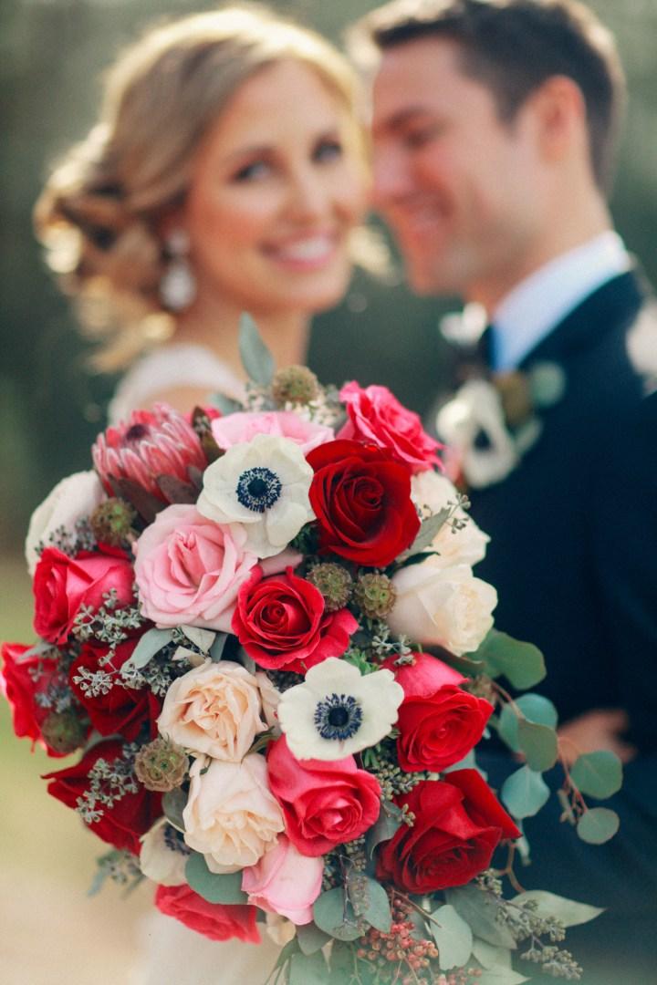Bluegrass Chic - Burgundy, Pink, White Bridal Bouquet