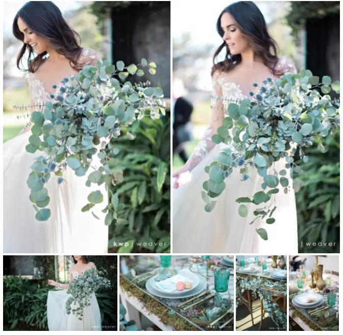Bluegrass Chic - Eucalyptus and Succulent Bouquet