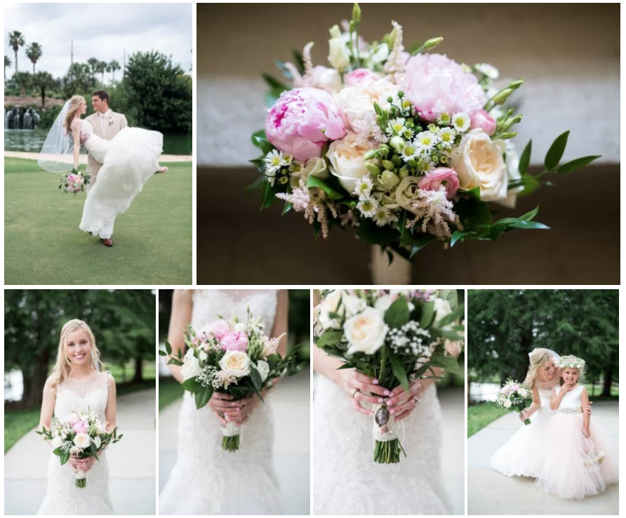 Bluegrass Chic - Blush Bridal Bouquet