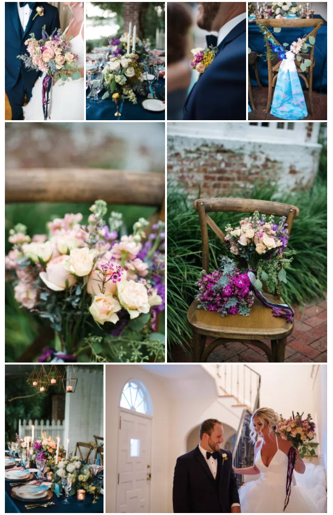 Bluegrass Chic - Watercolor Floral Details