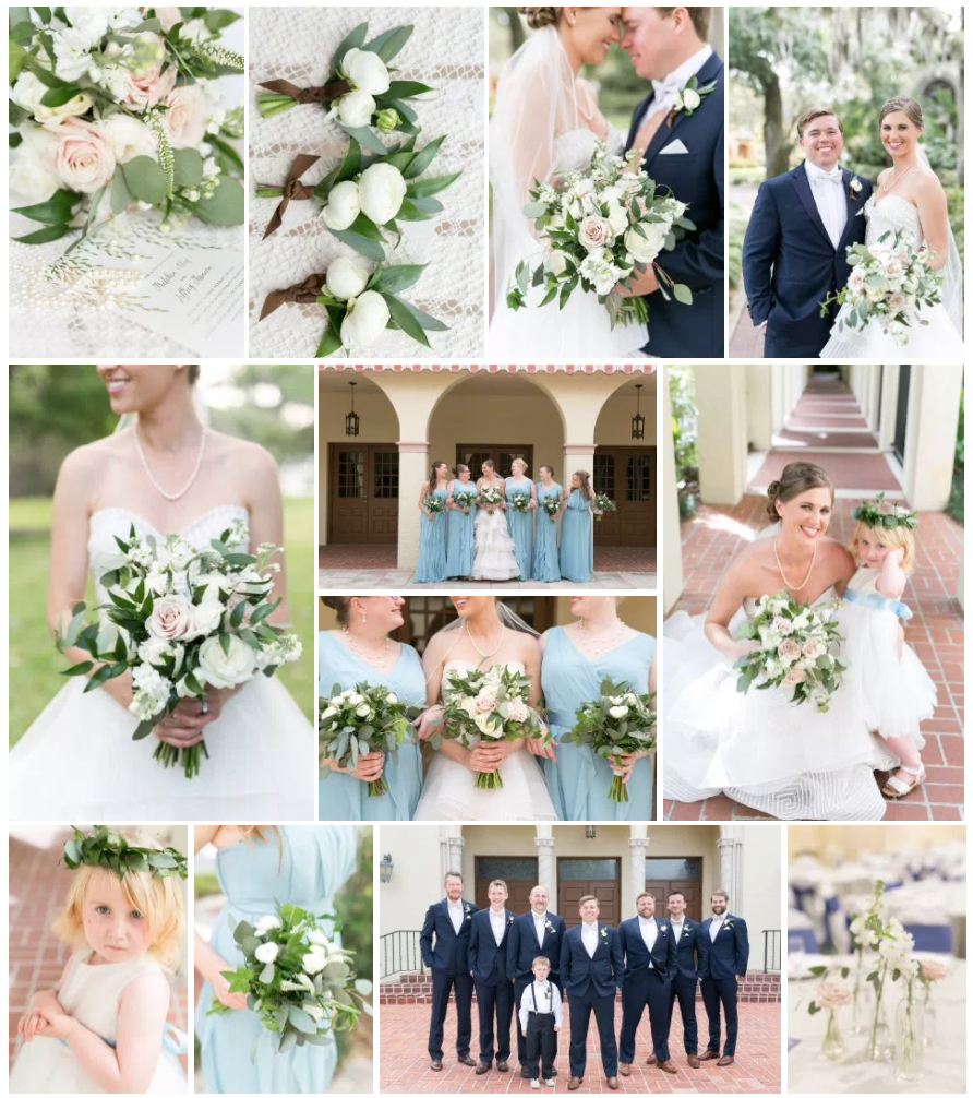 Bluegrass Chic - Blush and White Wedding Floral