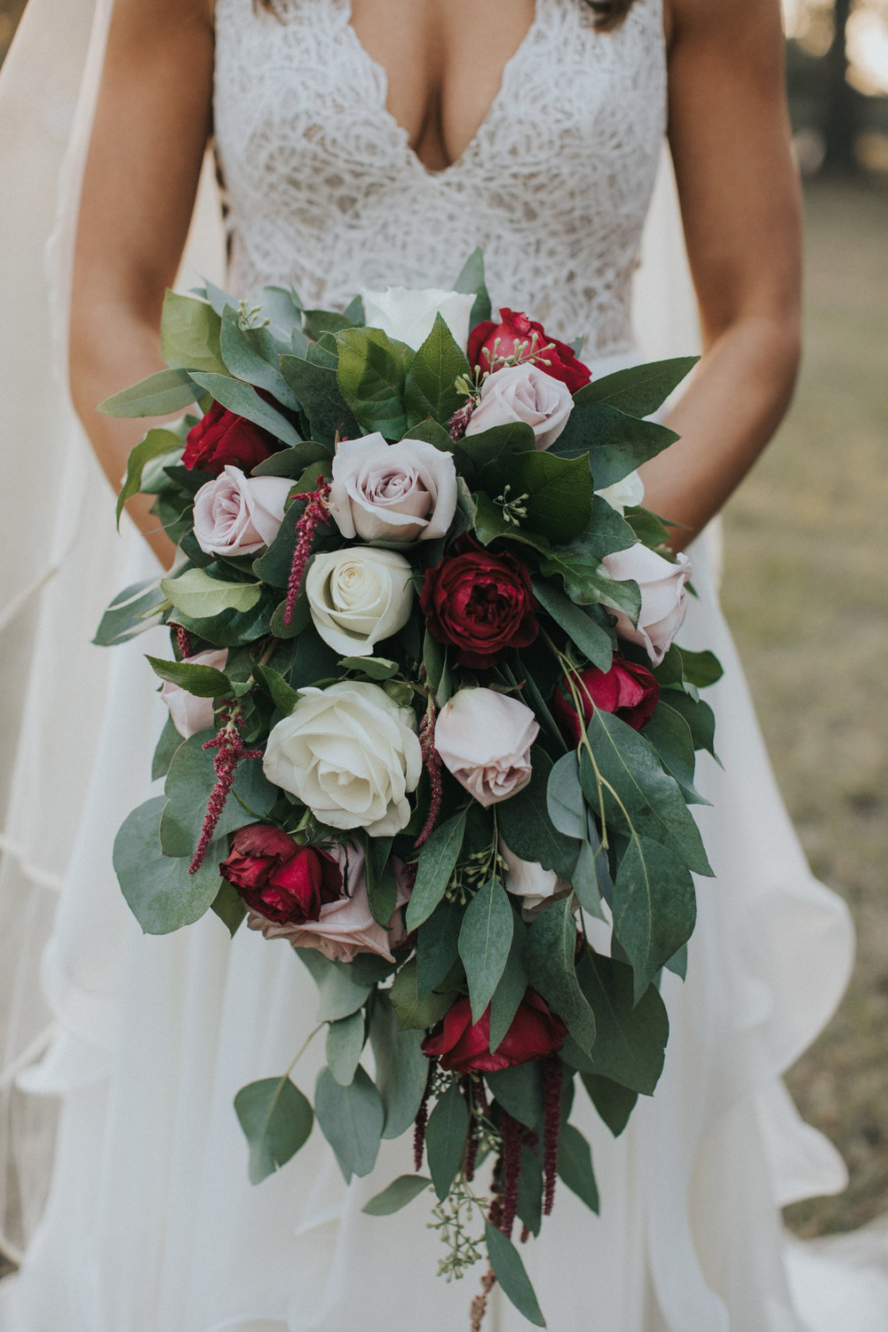 Bluegrass Chic - Cascading Bouquet