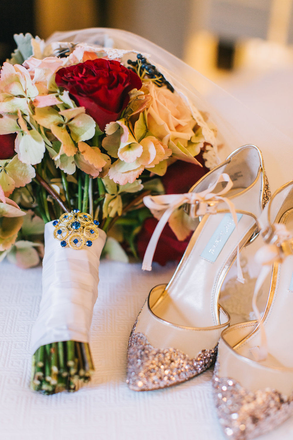 Bluegrass Chic - Bridal Bouquet and Shoes