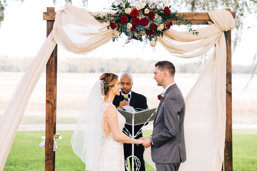 Bluegrass Chic - Ceremony arch with flower