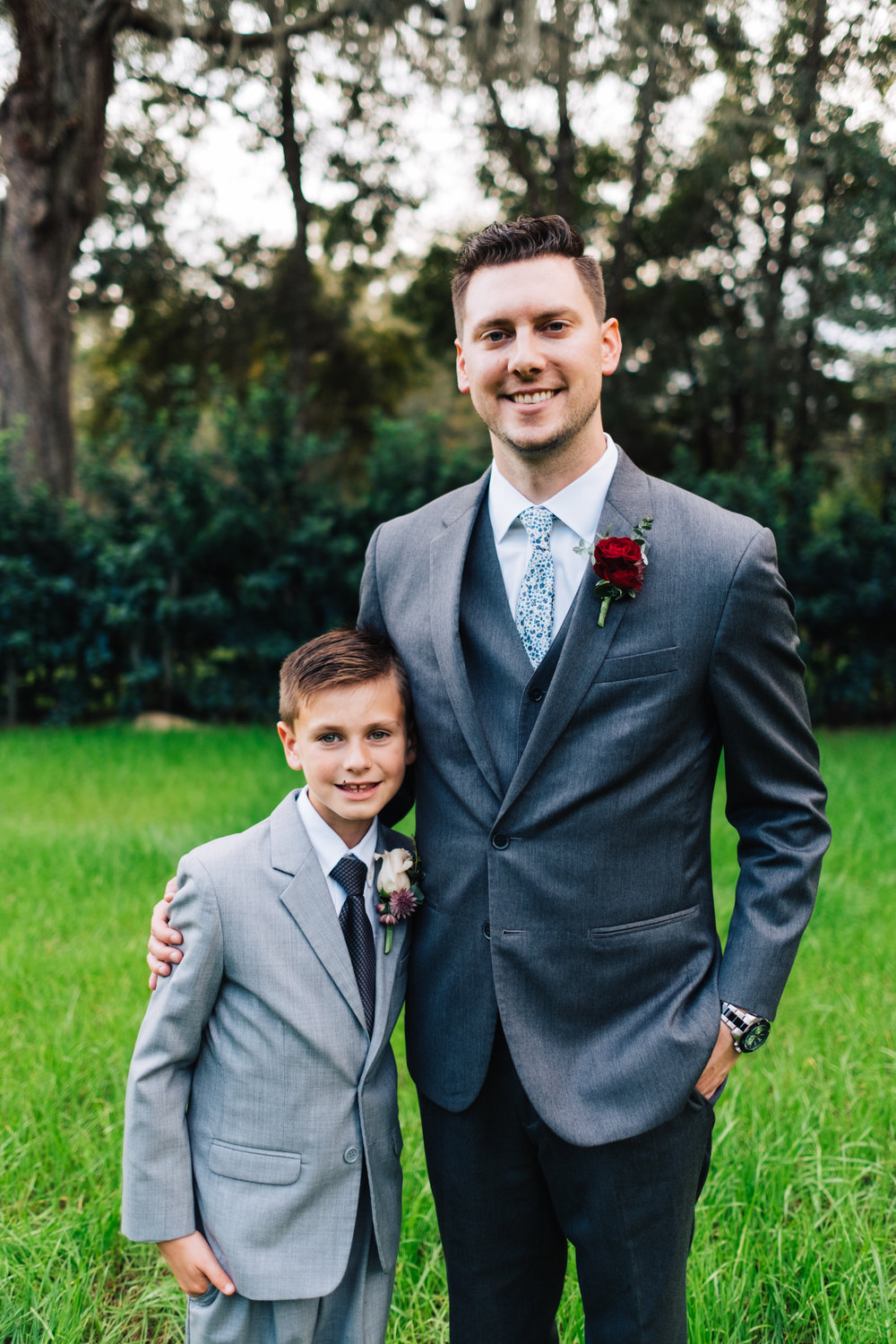 Bluegrass Chic - groom and son