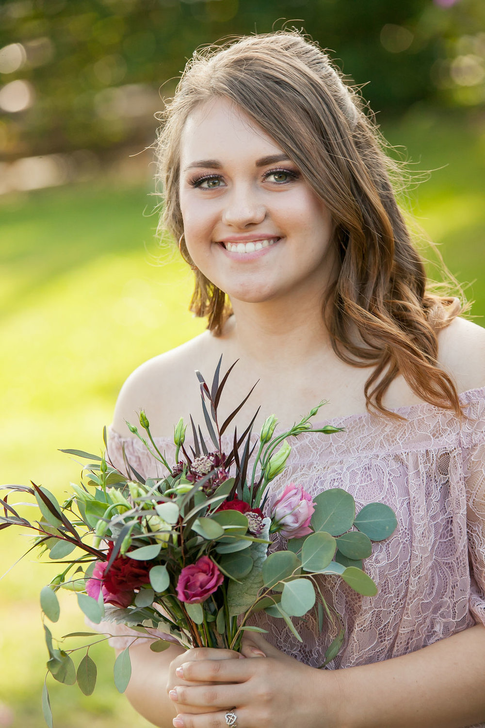 Bluegrass Chic - Bridesmaid bouquet dusty rose