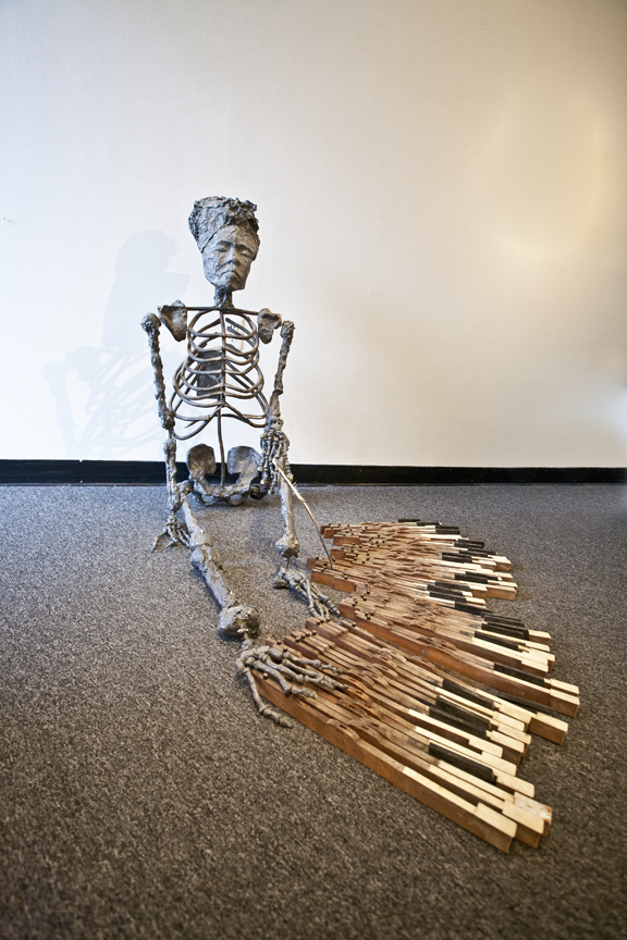 """Marionette - as installed in """"Dystopias"""" at the College of Southern Maryland"""