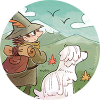 Snufkin Avatar commish--mountains (circle).png