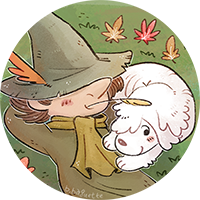 Snufkin Avatar commish--sleeping (circle).png