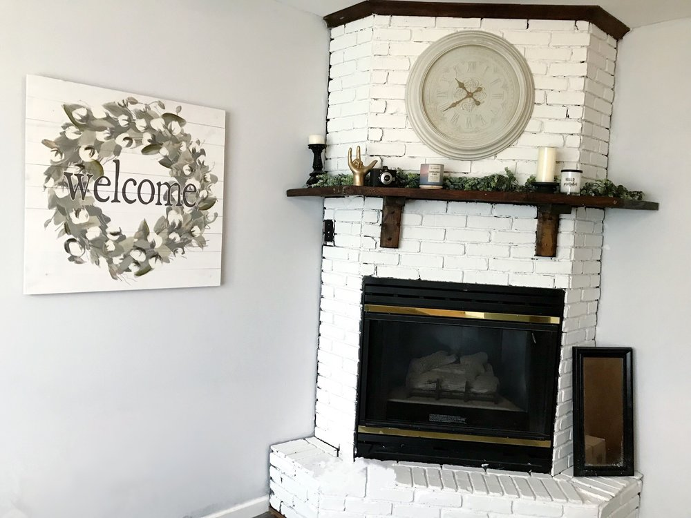 After - Apartment Project: Fireplace