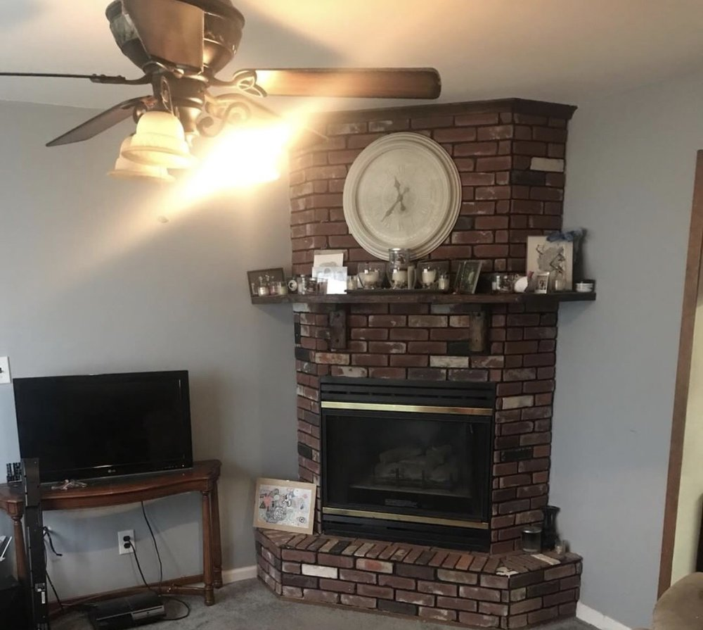 Before - Apartment Project: Fireplace