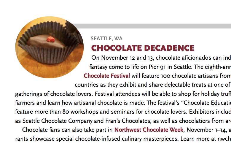 chocolate decadence - October, 2016