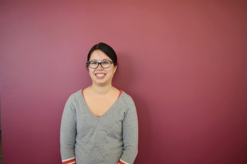 "A profile on Senior Product Manager  Ha-Hoa Hamano  for the ""Faces of NPR"" series.  Photo: Selly Sallah/NPR"