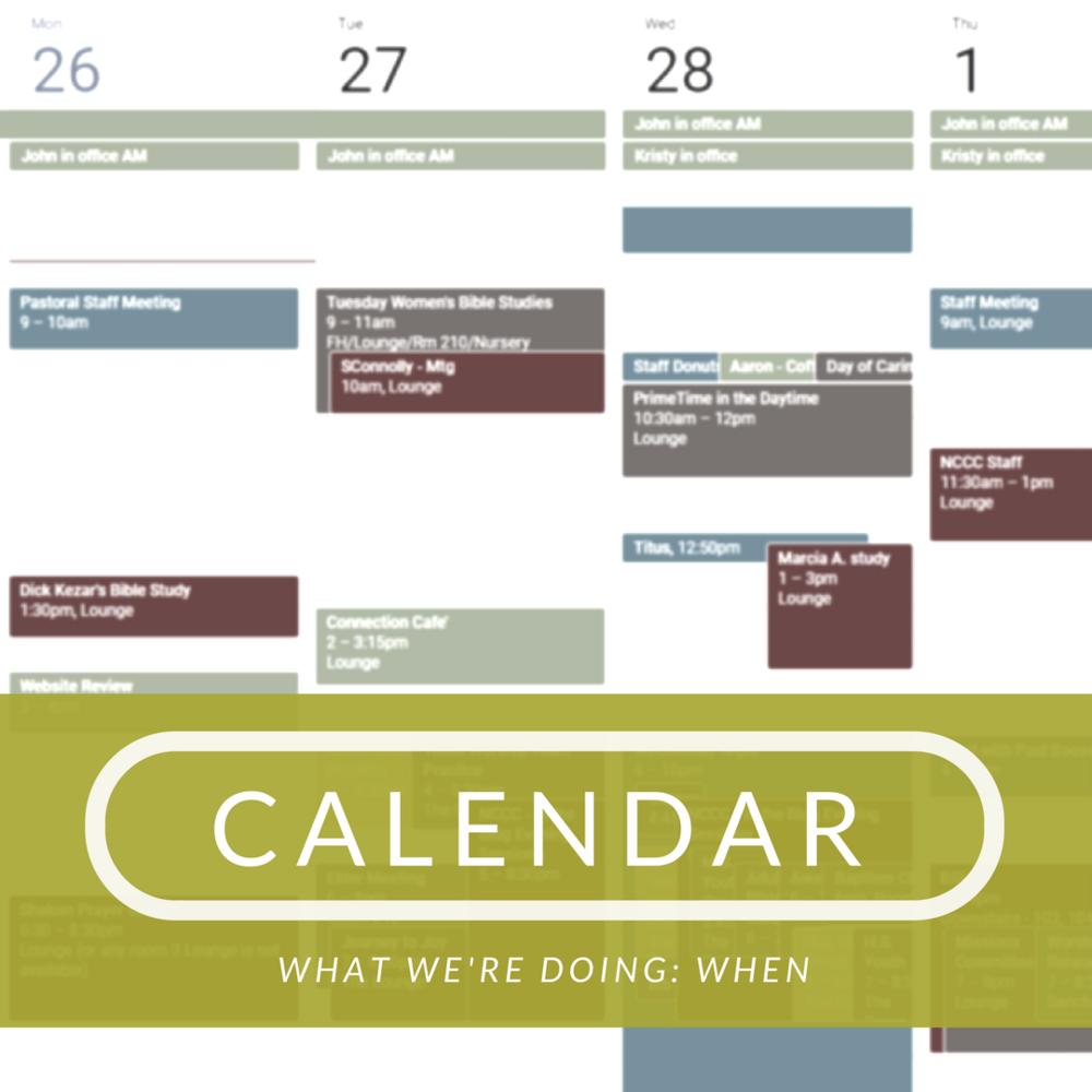 Calendar Quick Link FaithAlive!