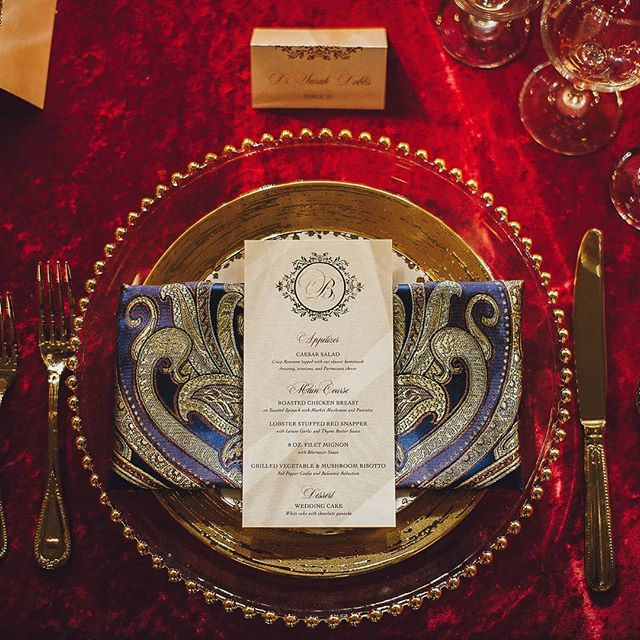 🍽️ Love love love how these custom napkins I created pulled together our regal color palette and design 🤗 . . . . . ------- 💕Thanks to our amazing vendor team for this Luxe Vow Renewal themed styled photo shoot!  Planning, Design, and Florals: @eventsbyamanee Venue: @thephoenixcincinnati Photography: @breightonbasettephotography Videography: @balchin_media @i_woode Place Setting Rentals: @aspartyrentalsoh Vintage Rentals: @queencityvignette Lighting: #badablinglightingdesign Stationery: @dirtyhelen1 Wedding Cake: @sweetsbyladawn Specialty Desserts: @sweetpetitdesserts Wedding Rings: @honeydesignsjewelry Vintage Rolls Royce: @marioscustomlimousineservice  Models: @lucysmalls @j5hudson Make-up: @makeupbylo00 Hair: @iamshaniab Bride's Attire: @lulus Groom's Attire: @folchiscincinnati . . . . . #exquisiteeventsbyamanee #eventsbyamanee #weddingwednesday #weddingdecor #weddingdesign #eventdesign #eventstylist #weddingplanner #eventplanner #wedding #weddings  #cincinnati #cincinnatiweddingplanner #kentuckyweddingplanner #ohioweddingplanner #cincinnatiwedding #cincinnatibride  #ohiobride #kentuckybride #kentuckywedding #kentucky #cincinnatiweddingflorist #weddingflorist #floraldesign #weddingflowers #theknot #munaluchi #munaluchibride