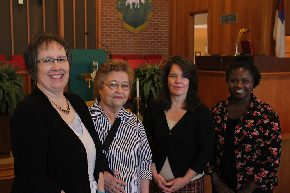 Pam Dow ,  President , Nena Beaty,  Secretary , Angel White,  Treasurer  & Peggy Dyer,  Vice President