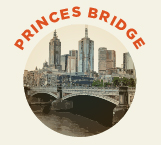 Princes Bridge was built in 1888, designed by John Grainger.