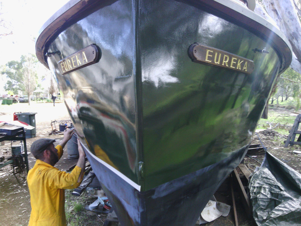 Hamish working on MV Eureka on the family farm in Echuca.
