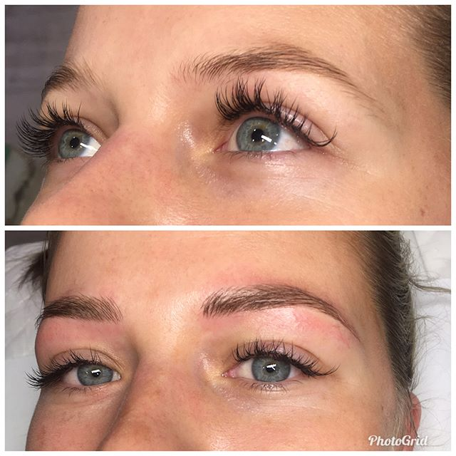 🌟FEATHER TOUCH BROWS BY TAYLA🌟 On model Chloe💓@beautycollectiveco  training at The Arch Academy @thearchstylist