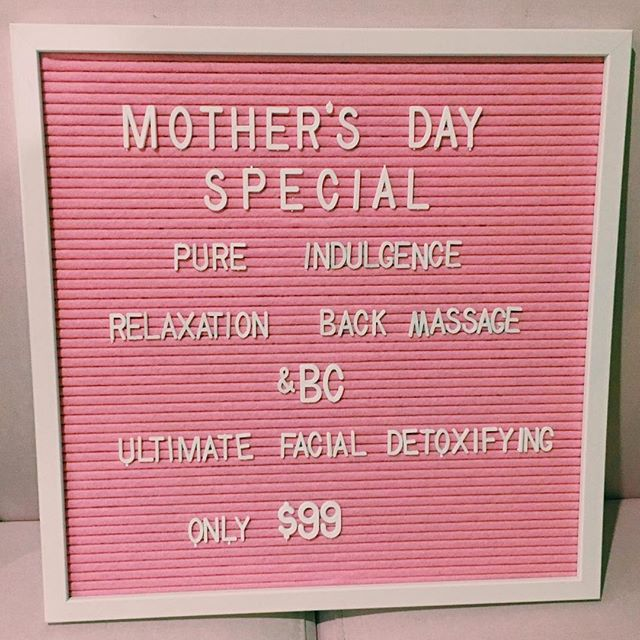 TREAT MUM THIS MOTHER'S DAY WITH THE BEST GIFT THAT CAN'T BE WRAPPED 🌟 PURE INDULGENCE🌟 INCLUDES BACK MASSAGE & CUSTOM FACIAL TO MUM'S NEEDS 💓ONLY $99 PURCHASE NOW 0400 956 502 DOLLAR VALUE VOUCHERS AVAILABLE • RICHMOND & SANDRINGHAM LOCATIONS•  WWW.BEAUTYCOLLECTIVECO.COM.AU