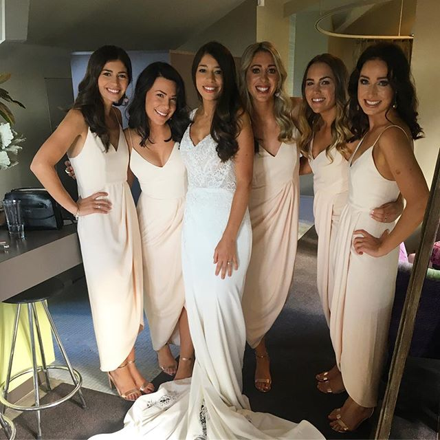 All smiles with this beautiful Bride squad @beautycollectiveco Make up by Tayla
