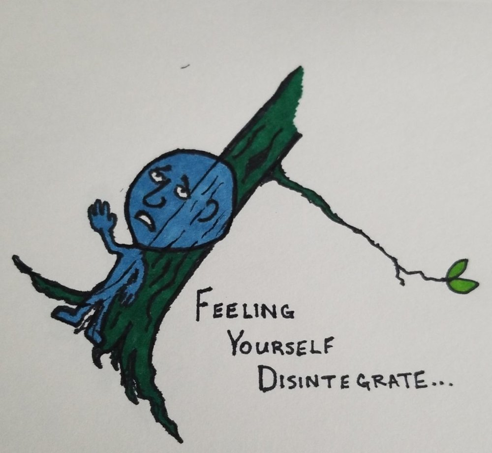 Another little doodle from my hubby.  To me, this pic so accurately captures the feeling of depression.  Can you relate?